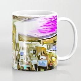 Kings Cross Station London Pop Art Coffee Mug