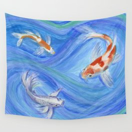 Swimming Koi Wall Tapestry