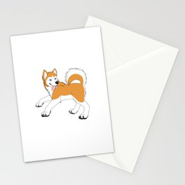 Husky (Red and White) Stationery Cards