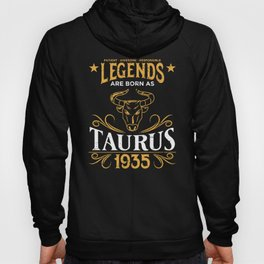 Birthday Gift Born As Taurus 1935 Hoody