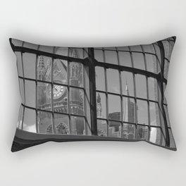 St Pancras Tower view from Kingscross train station Rectangular Pillow