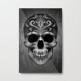 Ornament engraved skull Metal Print