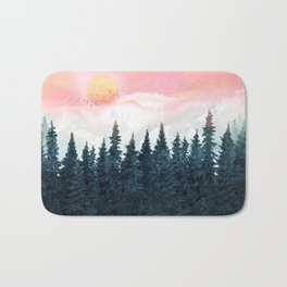 Forest Under the Sunset Bath Mat