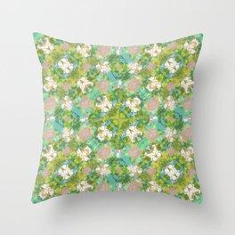Vintage Floral Print Pattern Throw Pillow