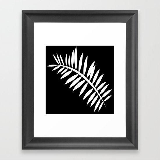 PALM LEAF WHITE LEAF by saundramyles