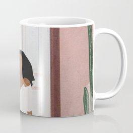 Woman sitting on the porch Coffee Mug