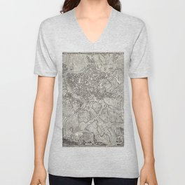 La pianta grande di Roma (The Large Plan of Rome) also known as The Nolli Map by Pietro Campana Carl Unisex V-Neck