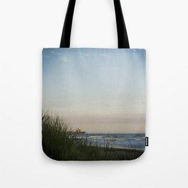 Folly Beach Pier Tote Bag