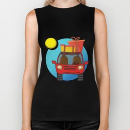 Travel car cartoon design Biker Tank