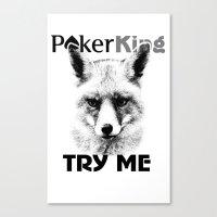 poker Canvas Prints featuring poker king by Roman Belov