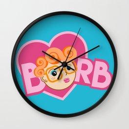 Barb Is My Valentine Wall Clock