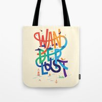 wanderlust Tote Bags featuring Wanderlust by Wharton