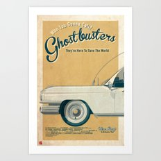 Ghostbusters Ecto-1 Triptych part I of III Art Print
