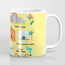 Map of Durban South Africa Coffee Mug