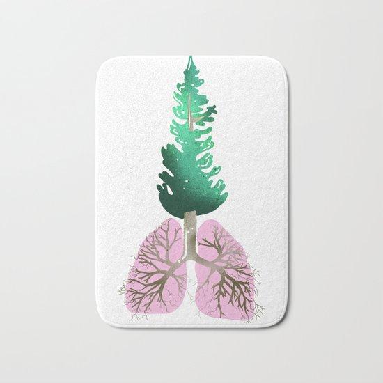 organic lungs Bath Mat