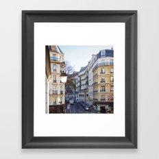 Streets of Paris. Framed Art Print
