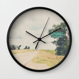 Texas state line ... Wall Clock