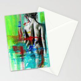 Nude Female Abstract Stationery Cards