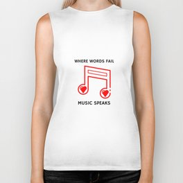 Music Speaks Biker Tank