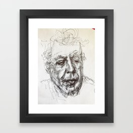 Anthony bourdain sketch Framed Art Print