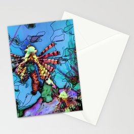 Lion Fish Abstract PhotoArt Stationery Cards