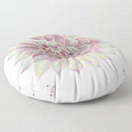 Big Succulent Watercolor Floor Pillow