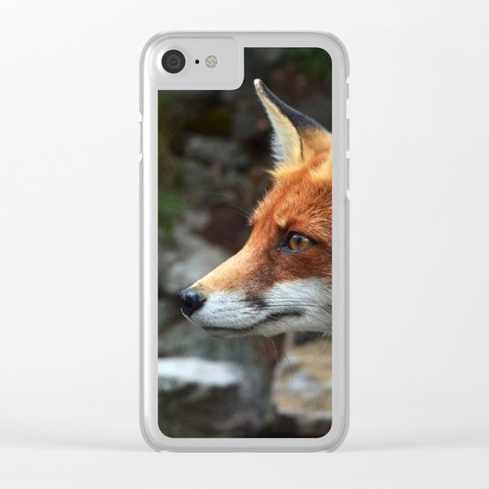 Fox renard 4 Clear iPhone Case