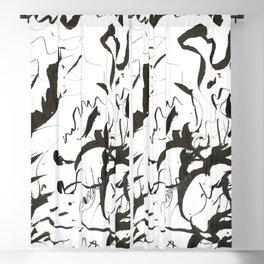 Inky Palms Blackout Curtain