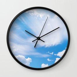 Beautiful blue skies Wall Clock