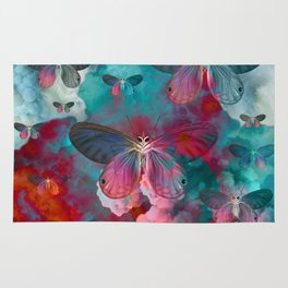 """Spring Butterfly love"" Rug"