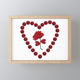 Red rose in my heart Framed Mini Art Print