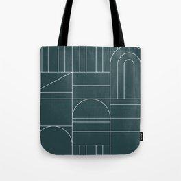 Deco Geometric 04 Teal Tote Bag