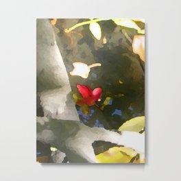 Red Leaf Metal Print