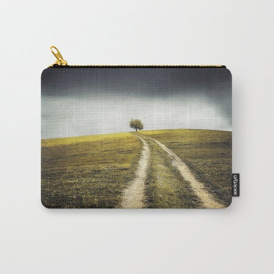 Grey sky Green tree 4 Carry-All Pouch