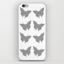 Gray Bold Mod Butterflies iPhone Skin