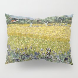 Field with flowers near Arles by Vincent van Gogh Pillow Sham