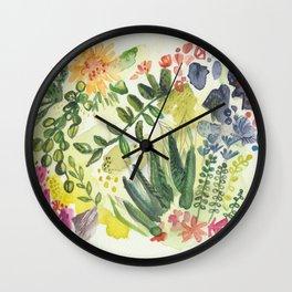 Florals and Corals Wall Clock