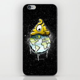 shit rules the world iPhone Skin