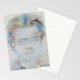 GUSTAV MAHLER - watercolor portrait Stationery Cards