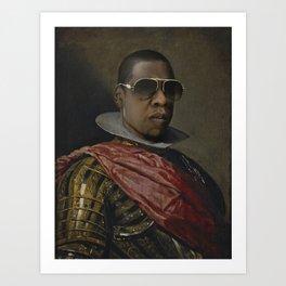 Portrait of Jay Z in Armor Art Print