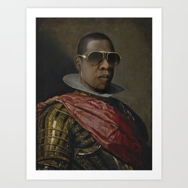 Portrait of Jay Z in Armor Kunstdrucke