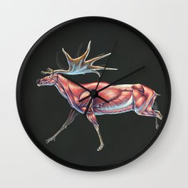 Megaloceros Giganteus Muscle Study (No Labels) Wall Clock