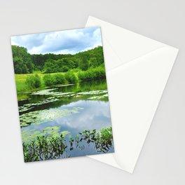 New England Pond Stationery Cards