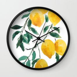 yellow lemon 2018 Wall Clock
