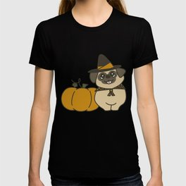 Pug-kin Patch Witch T-shirt
