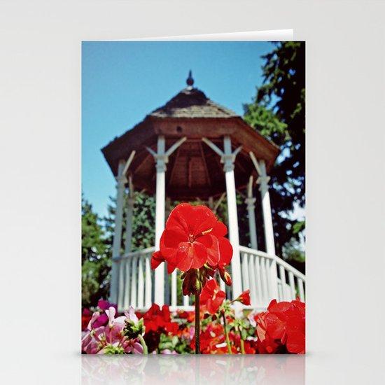 Gazebo flower Stationery Cards