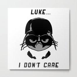 Darth Vader Grumpy Face Metal Print