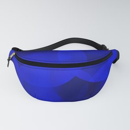 Abstract soap of ultramarine molecules and transparent bubbles on a deep blue background. Fanny Pack