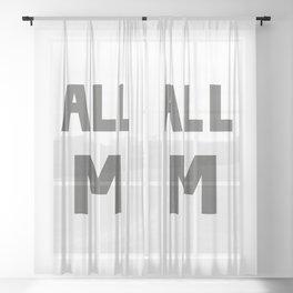 ALL M Sheer Curtain