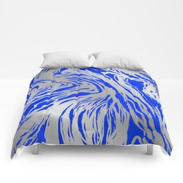 Marbled Blue Comforters